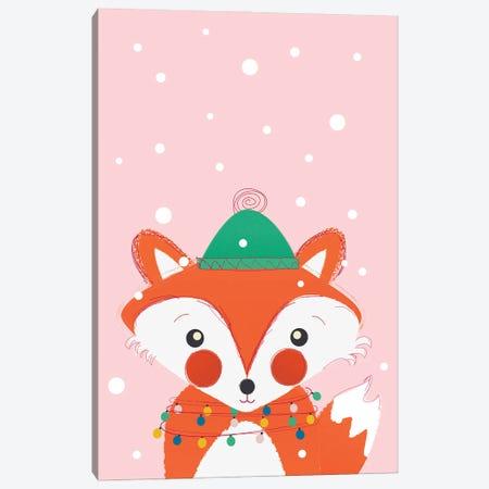 Christmas Animals Cute Fox Canvas Print #SMM20} by Show Me Mars Canvas Art Print