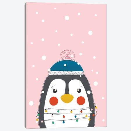 Christmas Animals Cute Penguin Canvas Print #SMM21} by Show Me Mars Canvas Art Print