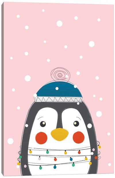 Christmas Animals Cute Penguin Canvas Art Print