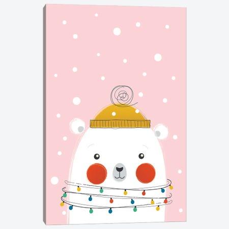 Christmas Animals Cute Polar Bear Canvas Print #SMM23} by Show Me Mars Art Print