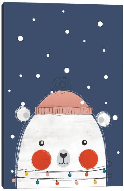 Christmas Bear Canvas Art Print