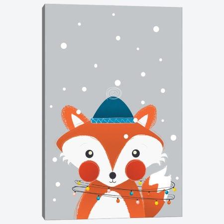 Christmas Fox Canvas Print #SMM28} by Show Me Mars Canvas Print