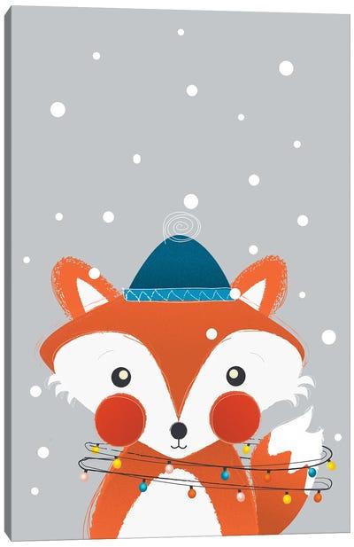 Christmas Fox Canvas Art Print