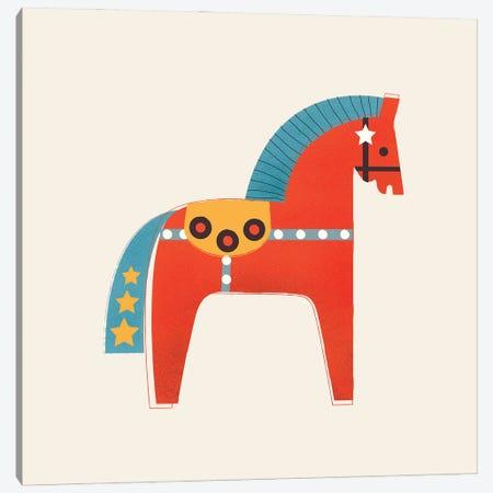 Christmas Horse Canvas Print #SMM29} by Show Me Mars Canvas Art Print