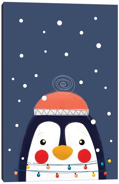 Christmas Penguin Canvas Art Print