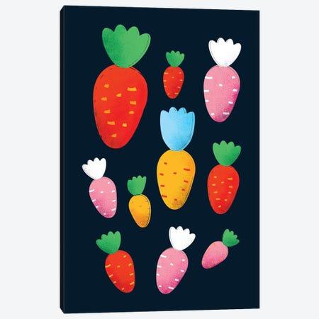Colorful Carrots Canvas Print #SMM34} by Show Me Mars Art Print