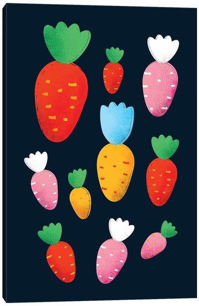 Colorful Carrots Canvas Art Print