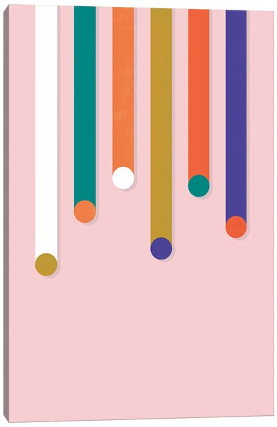 Colorful Dripping Shapes Canvas Art Print