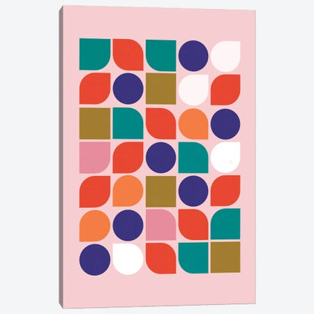 Colorful Geometry Canvas Print #SMM37} by Show Me Mars Canvas Print