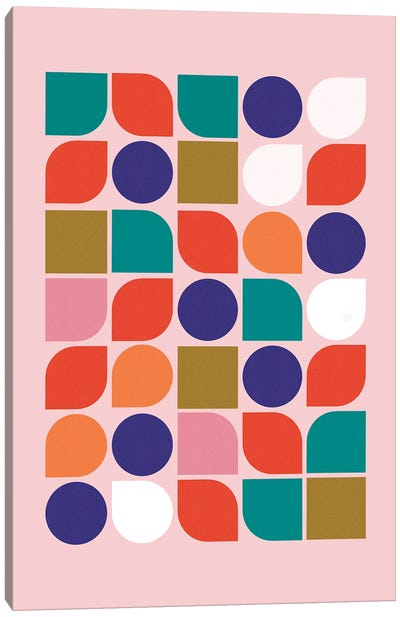 Colorful Geometry Canvas Art Print