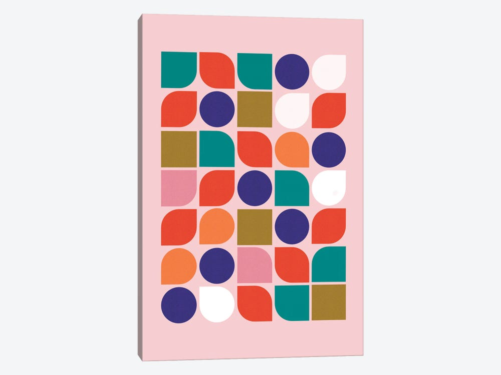 Colorful Geometry by Show Me Mars 1-piece Canvas Art