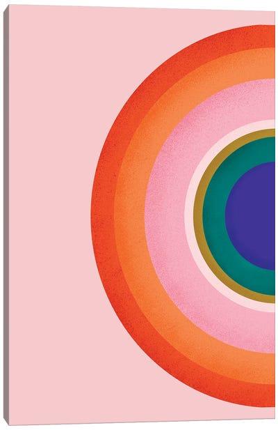 Colorful Half Circle Canvas Art Print