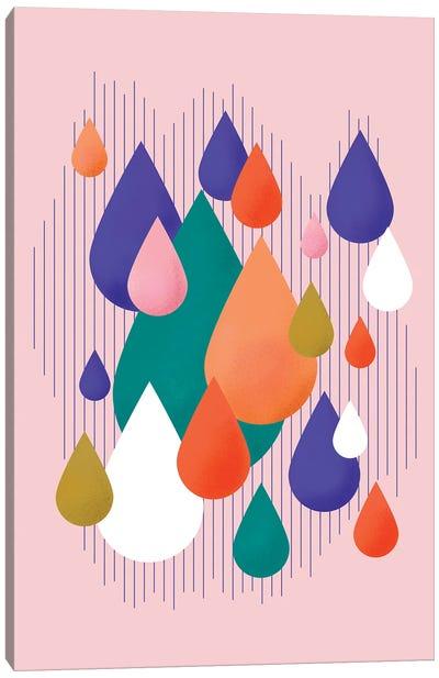 Colorful Rain Drops Canvas Art Print
