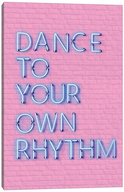 Dance To Your Own Rhythm Neon Canvas Art Print