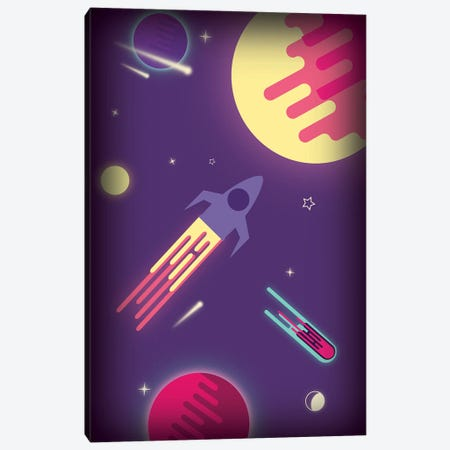 Fantasy Galaxy Canvas Print #SMM57} by Show Me Mars Canvas Art Print