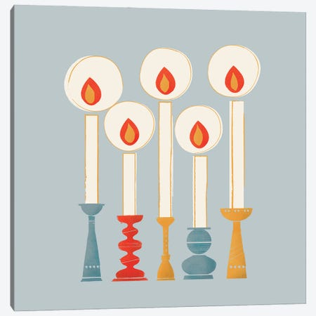 Festive Candles I Canvas Print #SMM58} by Show Me Mars Canvas Artwork