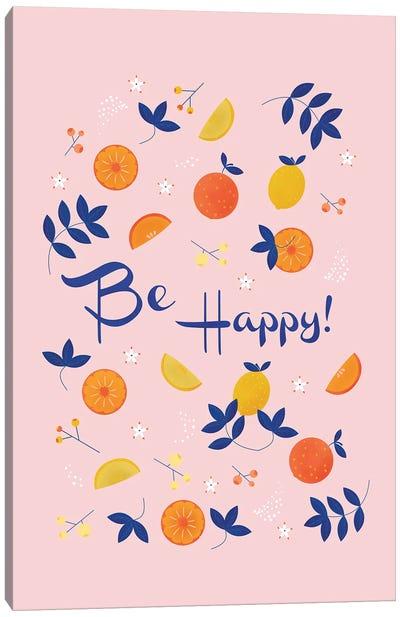 Be Happy! Canvas Art Print