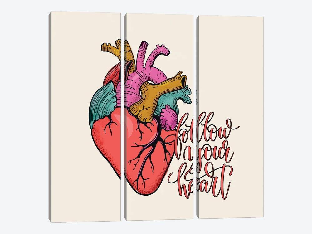 Follow Your Heart by Show Me Mars 3-piece Canvas Art