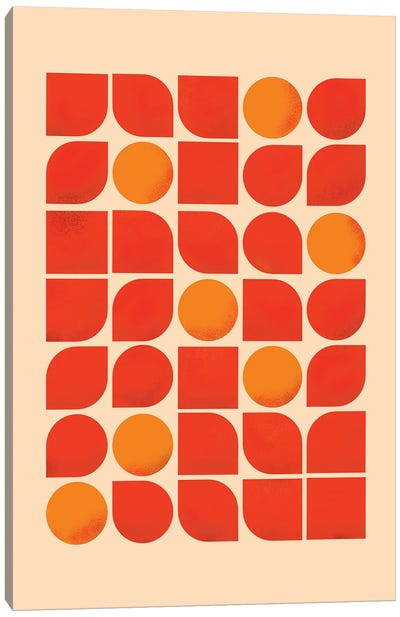 Fun Mid Century Geometry Canvas Art Print