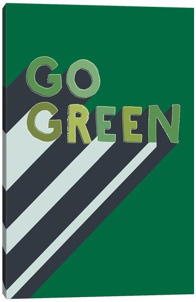 Go Green Typography Canvas Art Print