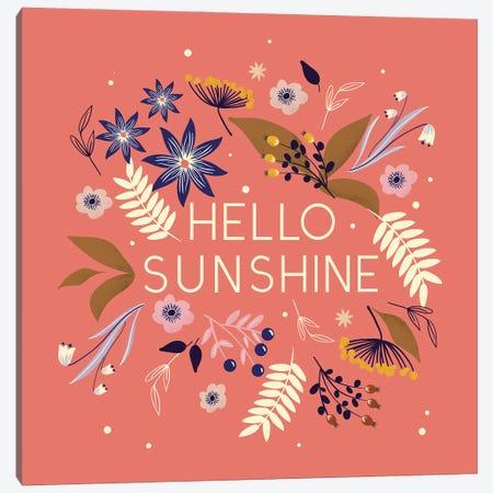 Hello Sunshine. Canvas Print #SMM91} by Show Me Mars Canvas Artwork