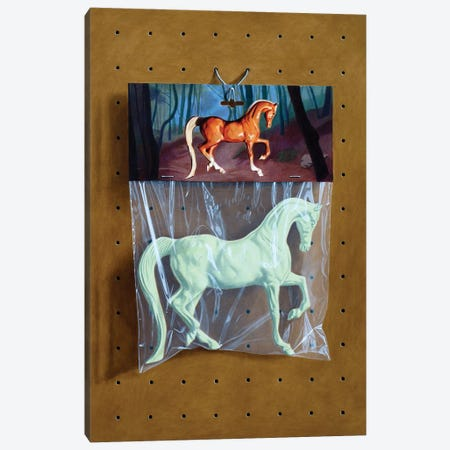 Ghost Horse Bag 3-Piece Canvas #SMN16} by Simon Monk Canvas Art