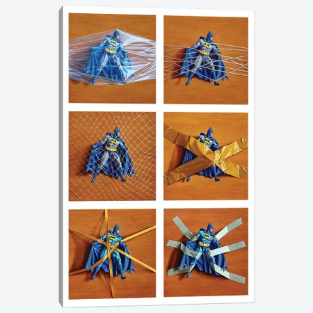 Trapped Batman Canvas Print #SMN32} by Simon Monk Canvas Art Print