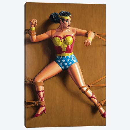 Trapped Wonder Woman Canvas Print #SMN39} by Simon Monk Canvas Print