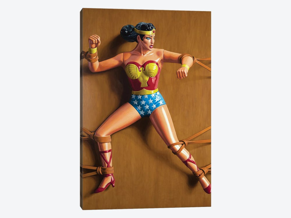Trapped Wonder Woman by Simon Monk 1-piece Canvas Art