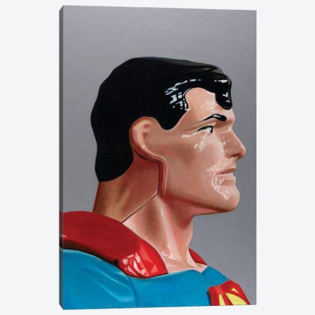 Replicant Study - Superman Canvas Print #SMN46} by Simon Monk Art Print