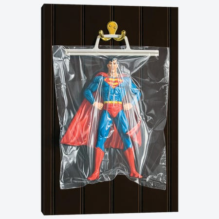 Clark Kent (Dark Background) 3-Piece Canvas #SMN9} by Simon Monk Art Print