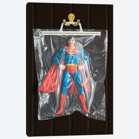 Clark Kent (Dark Background) Canvas Print #SMN9} by Simon Monk Art Print