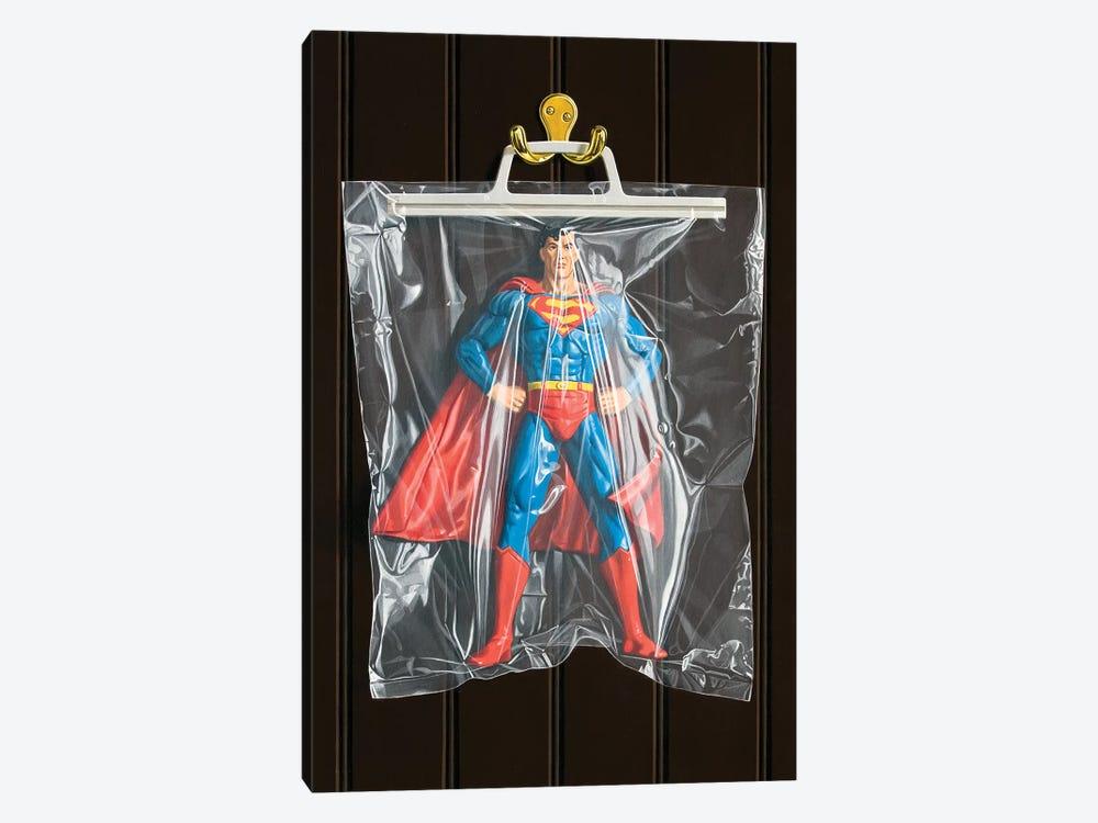 Clark Kent (Dark Background) by Simon Monk 1-piece Canvas Art Print