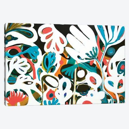 White Flowers Canvas Print #SMR33} by Sarah Morrow Art Print