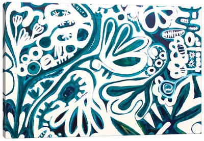 White Garden I Canvas Art Print