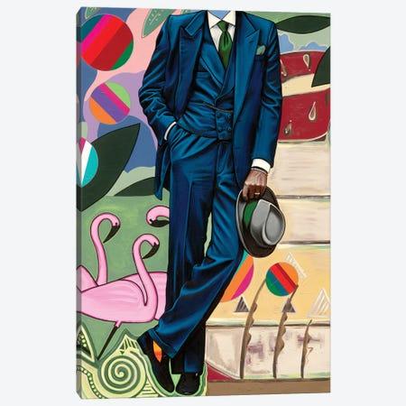 Flamingo Canvas Print #SMS27} by Samara Marlee Shuter Canvas Artwork