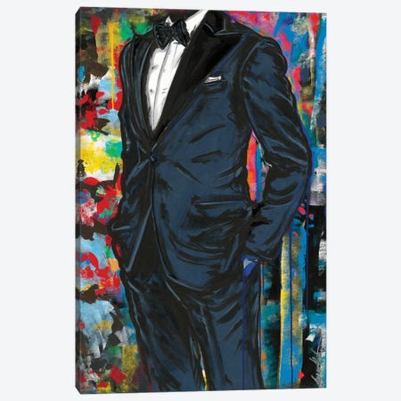 Bleu Canvas Print #SMS39} by Samara Marlee Shuter Canvas Wall Art