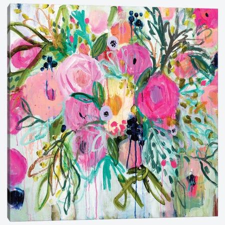Rose Burst Canvas Print #SMT124} by Carrie Schmitt Canvas Print