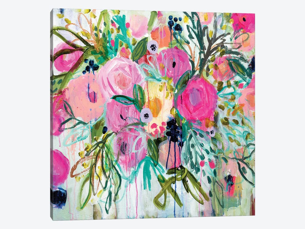 Rose Burst by Carrie Schmitt 1-piece Canvas Print