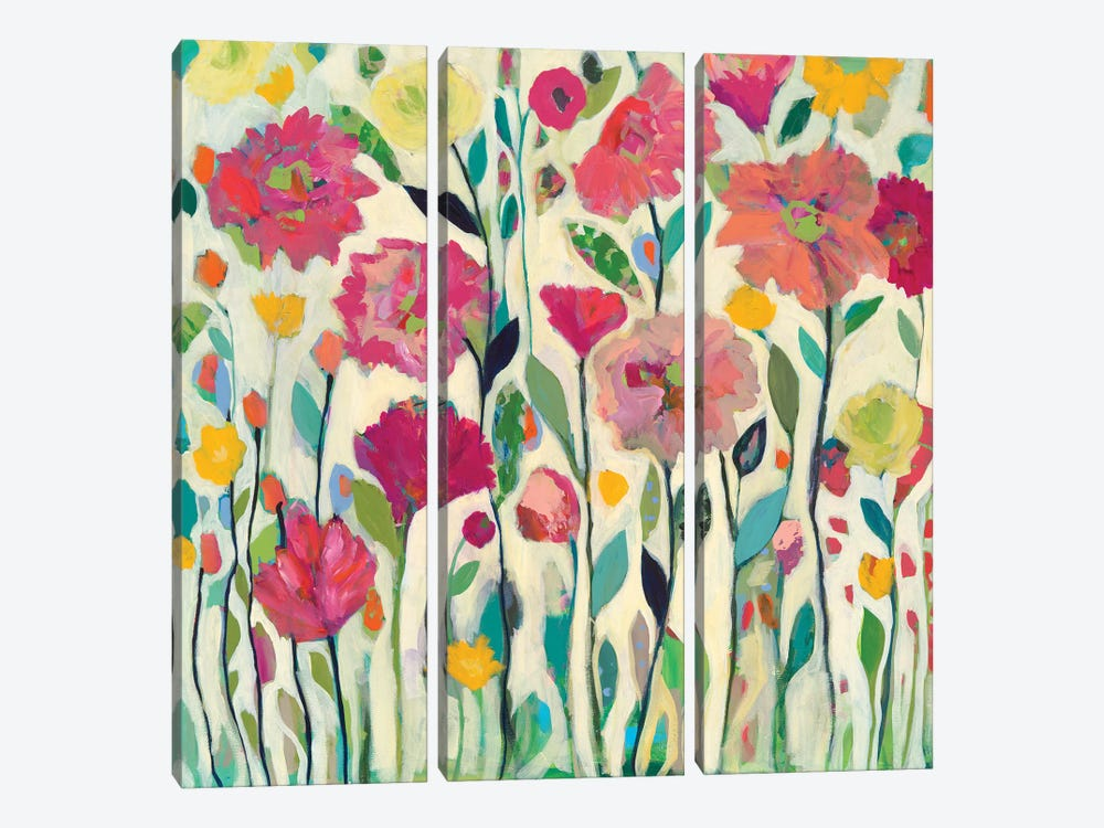 She Lived In Full Bloom by Carrie Schmitt 3-piece Canvas Wall Art