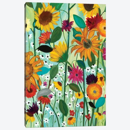 Sunflower House Canvas Print #SMT143} by Carrie Schmitt Canvas Artwork