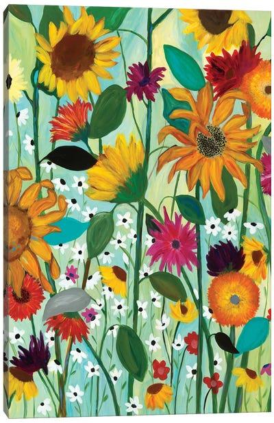 Sunflower House Canvas Art Print