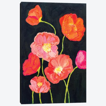 Sunshine Poppies Canvas Print #SMT145} by Carrie Schmitt Canvas Print