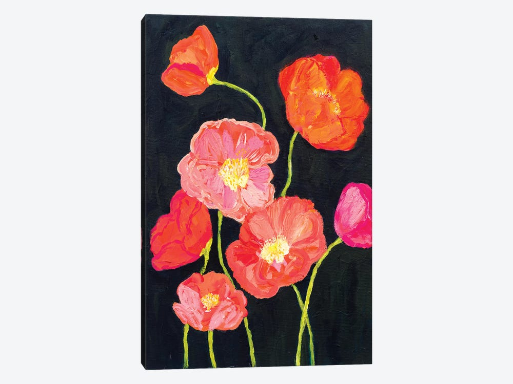 Sunshine Poppies 1-piece Canvas Wall Art