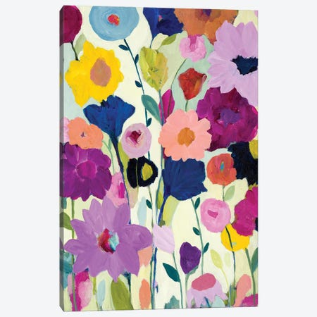 Blooms Have Burst Canvas Print #SMT14} by Carrie Schmitt Canvas Artwork
