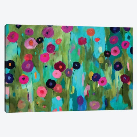 Time To Bloom 3-Piece Canvas #SMT153} by Carrie Schmitt Canvas Print