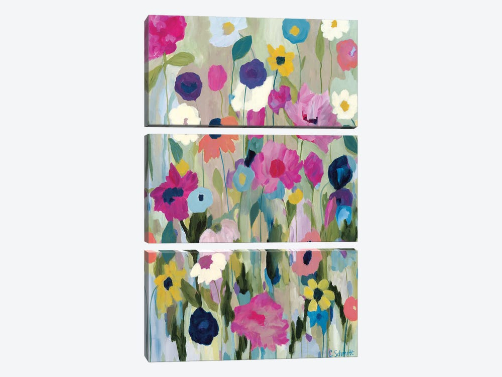 Too Pretty To Pick by Carrie Schmitt 3-piece Canvas Print