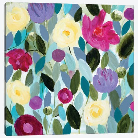 Tranquility Blooms Canvas Print #SMT156} by Carrie Schmitt Canvas Wall Art