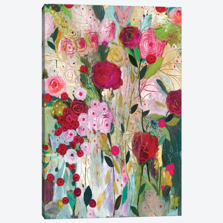 Wild Rose Canvas Print #SMT169} by Carrie Schmitt Canvas Artwork