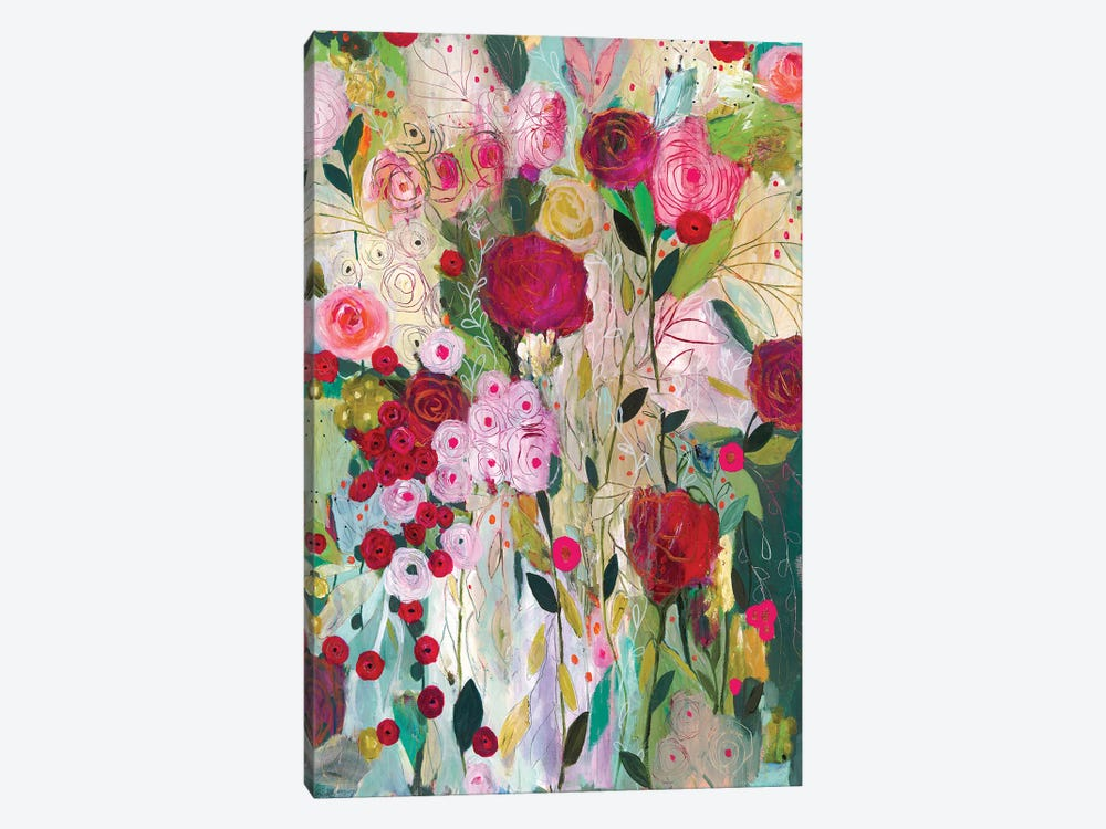Wild Rose by Carrie Schmitt 1-piece Canvas Art